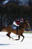 Europe, Switzerland, Graubunden, Engadine, St Moritz in winter, White Turf International Horse Race 20088077887| 写真素材・ストックフォト・画像・イラスト素材|アマナイメージズ
