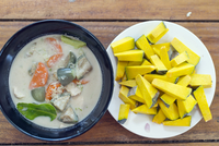 South East Asia, Thailand, Phang Nga Province, Khao Lak, Pakinnaka Thai Cooking Class, pumpkin and thai green curry 20088079487| 写真素材・ストックフォト・画像・イラスト素材|アマナイメージズ
