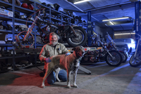 Owner Shawn roach, Shop of Bernies' Route 66 Motorcycles, Grants, New Mexico, USA  MR, PR 20088089113| 写真素材・ストックフォト・画像・イラスト素材|アマナイメージズ
