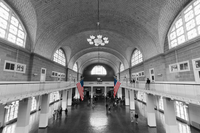 USA, New York, New York Harbor, Ellis Island Immigration Museum in former Immigration Station buildings, Registry Room 20088090319| 写真素材・ストックフォト・画像・イラスト素材|アマナイメージズ