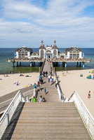 Sellin pier, Rugen Island, Baltic coast, Mecklenburg-Western Pomerania, Germany.