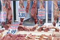 Butchery at the Central Market in Athens, Greece 20088099450| 写真素材・ストックフォト・画像・イラスト素材|アマナイメージズ