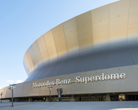 United States, Louisiana, New Orleans. Mercedez Benz Superdome, home of the New Orleans Saints football team.
