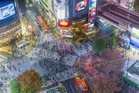 Asia, Japan, Tokyo, Shibuya, Shibuya Crossing, centre of Shibuyas fashionable shopping and entertainment district