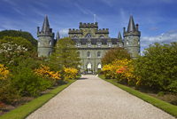 A view of Inveraray Castle from the castle grounds.