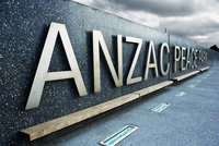 A sign at the Anzac Peace Park in Albany in Western Australia.