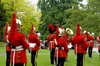 Heavy Cavalry and Cambrai Band at the Royal Salute for Coronation Day in Museum Gardens. 20089009435| 写真素材・ストックフォト・画像・イラスト素材|アマナイメージズ