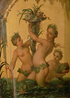 Detail of sirens holding a cornucopia from the State Carriag 22040037463| 写真素材・ストックフォト・画像・イラスト素材|アマナイメージズ