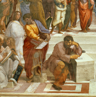 The School of Athens, detail of the figures on the left hand 22040156431| 写真素材・ストックフォト・画像・イラスト素材|アマナイメージズ
