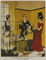 Afternoon dresses for tea, fashion plate from 'Art Gout Beau 22040165186| 写真素材・ストックフォト・画像・イラスト素材|アマナイメージズ