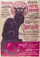 Poster advertising an exhibition of the 'Collection du Chat Noir' cabaret at the Hotel Drouot, Paris, May 1898 (colour litho) 22040226779| 写真素材・ストックフォト・画像・イラスト素材|アマナイメージズ