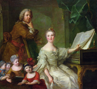 The Artist and his Family, 1730-62 (oil on canvas) 22040242773| 写真素材・ストックフォト・画像・イラスト素材|アマナイメージズ