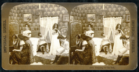 Dressing for the Ball', c.1900 (sepia photo) (see also 4732 22040242834| 写真素材・ストックフォト・画像・イラスト素材|アマナイメージズ