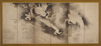 Dragons and Clouds, Edo Period (ink & pint tint on paper) 22040245471| 写真素材・ストックフォト・画像・イラスト素材|アマナイメージズ