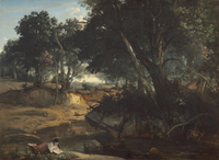 Forest of Fontainebleau, 1834 (oil on canvas) 22040245704| 写真素材・ストックフォト・画像・イラスト素材|アマナイメージズ