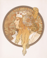 Byzantine head of a blond maiden; Tete byzantine d'une femme blonde, c.1897 (lithograph in colours) 22040249641| 写真素材・ストックフォト・画像・イラスト素材|アマナイメージズ