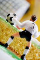 Cake with football and goalkeeper