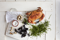 Ingredients for making a seafood dish 22199087649| 写真素材・ストックフォト・画像・イラスト素材|アマナイメージズ