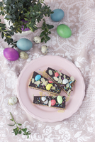 Mazurek (No bake Polish Easter cake) with marzipan filling and chocolate 22199091641| 写真素材・ストックフォト・画像・イラスト素材|アマナイメージズ