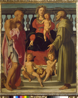 Madonna and Child with Two Saints and Two Angels 22244001887| 写真素材・ストックフォト・画像・イラスト素材|アマナイメージズ