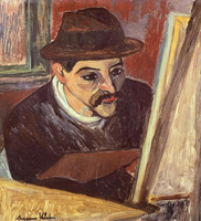 Maurice Utrillo in front of his easel, by Suzanne Valadon (1867-1939). 22244002187| 写真素材・ストックフォト・画像・イラスト素材|アマナイメージズ
