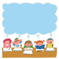 勉強する子供達 22257003062| 写真素材・ストックフォト・画像・イラスト素材|アマナイメージズ