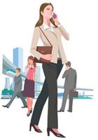 携帯電話を扱うビジネスウーマン 22370000211| 写真素材・ストックフォト・画像・イラスト素材|アマナイメージズ