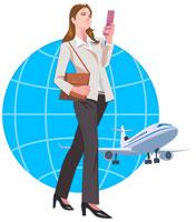 携帯電話を扱うビジネスウーマン 22370000213| 写真素材・ストックフォト・画像・イラスト素材|アマナイメージズ