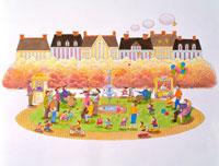 秋の街イメージ 22451011247| 写真素材・ストックフォト・画像・イラスト素材|アマナイメージズ