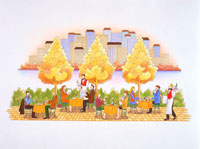 秋の街並み 22451011260| 写真素材・ストックフォト・画像・イラスト素材|アマナイメージズ