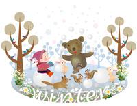 メルヘンイラスト冬の森の仲間たち 22451034871| 写真素材・ストックフォト・画像・イラスト素材|アマナイメージズ