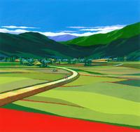 彼岸花咲く田園風景イラスト(9月) 22451036035| 写真素材・ストックフォト・画像・イラスト素材|アマナイメージズ