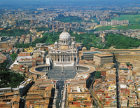 Aerial view of St Peter's Square and St Peter's Basilica (UNESCO World Heritage List, 1980-1990), Vatican City. 22907007105| 写真素材・ストックフォト・画像・イラスト素材|アマナイメージズ
