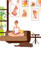 読書する女性 22987000072  写真素材・ストックフォト・画像・イラスト素材 アマナイメージズ