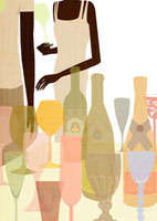 パーティで飲み物を持つ男女 22987000087  写真素材・ストックフォト・画像・イラスト素材 アマナイメージズ