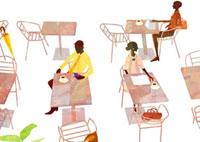 カフェの光景 22987000133  写真素材・ストックフォト・画像・イラスト素材 アマナイメージズ