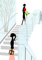 オフィス階段での光景 22987000134  写真素材・ストックフォト・画像・イラスト素材 アマナイメージズ