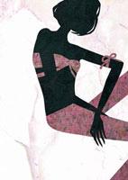 座っている女性 22987000159  写真素材・ストックフォト・画像・イラスト素材 アマナイメージズ
