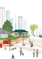 街とスカイツリー 22987000164  写真素材・ストックフォト・画像・イラスト素材 アマナイメージズ
