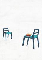 2脚の向かいあう椅子 22987000181  写真素材・ストックフォト・画像・イラスト素材 アマナイメージズ