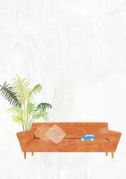 ソファと植物 22987000184  写真素材・ストックフォト・画像・イラスト素材 アマナイメージズ