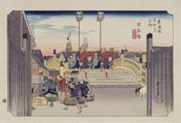 東海道五拾三次 1日本橋 天保刷り 25166002699  写真素材・ストックフォト・画像・イラスト素材 アマナイメージズ