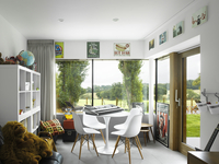 Kids Room overlooking landscape in High Barnet family home, London by Paul Archer Design 25937007175| 写真素材・ストックフォト・画像・イラスト素材|アマナイメージズ