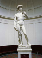 David after restoration completed in May 2004/ダビデ像(2004 26144000189| 写真素材・ストックフォト・画像・イラスト素材|アマナイメージズ