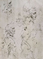 Various profiles of men and women,pen drawing on white pape 26144000306| 写真素材・ストックフォト・画像・イラスト素材|アマナイメージズ