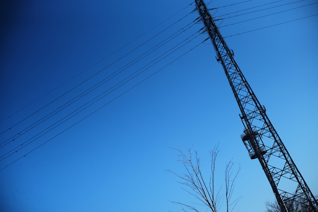 Blue sky from