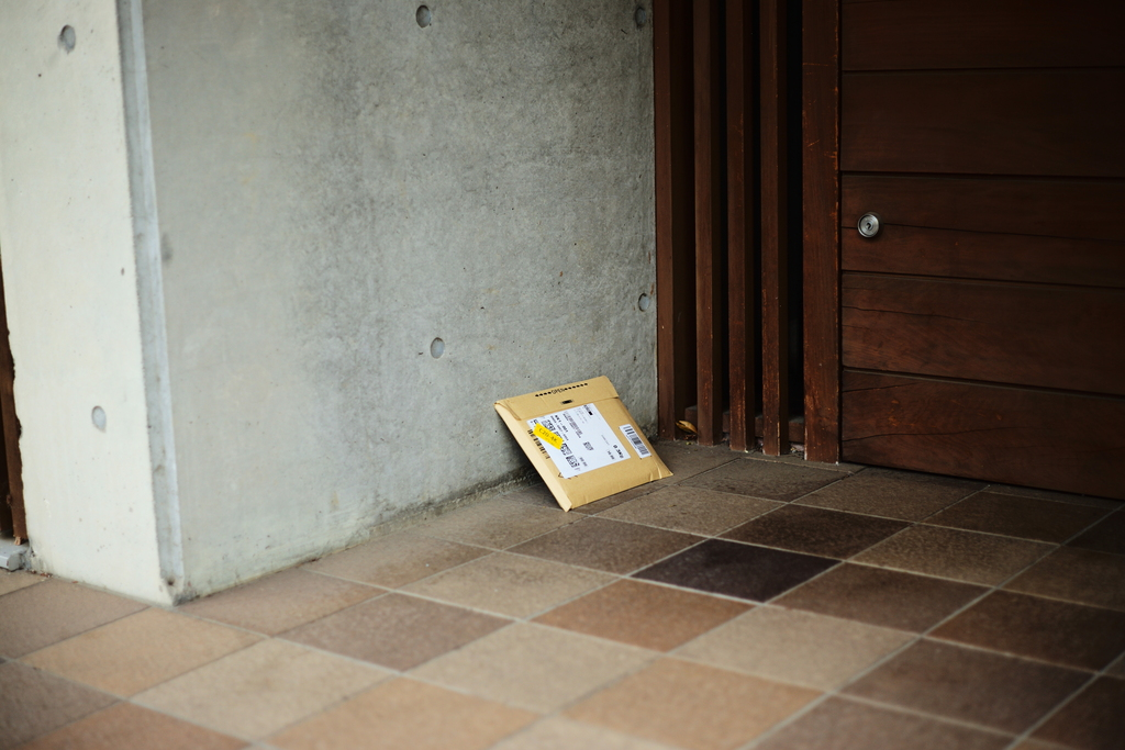 There was a mail outside the house. What I hope is tht nobody will steal it.