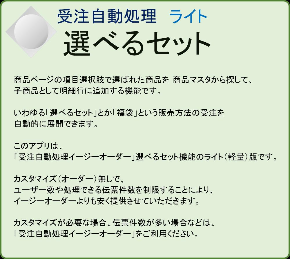 【業務自動化アプリ】選べるセット 受注自動処理ライト