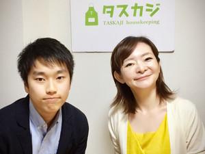 インターン生と代表の和田です♪