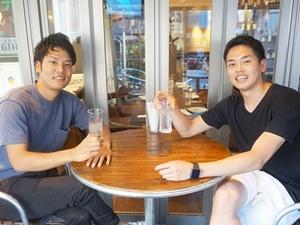 左が代表の伊藤と取締役の平山です